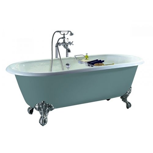 Heritage Baby Buckingham 0 Tap Hole Cast Iron Doubled Ended Bath with Cast Iron Imperial Bath Feet  (17484)