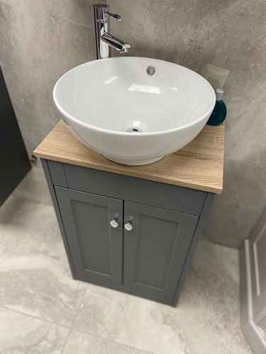 Shelbourne 710mm Traditional Vanity Unit, Worktop & Counter Top Bowl - Matt Grey (19507)