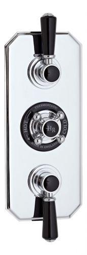 Hudson Reed Black Topez Triple Concealed Shower Valve With Diverter BTSVT005 (15569)