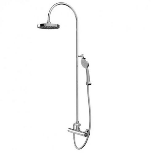 Bristan Buzz Cool Touch Rain Shower Bar Shower Mixer with Rigid Riser Kit - Chrome (19494)