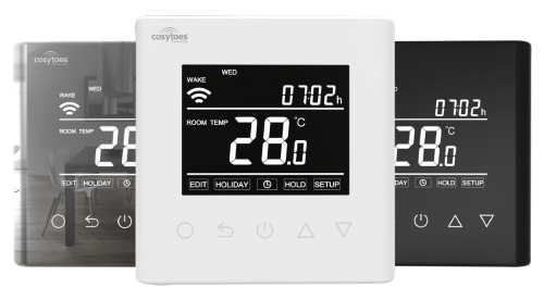 Cosytoes Curve WiFi Timerstat for Electrical Underfloor Heating (White) - 17378