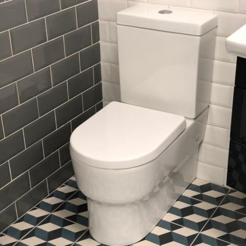 Cancun Fully Back to Wall Toilet & Soft Close Seat (17293)