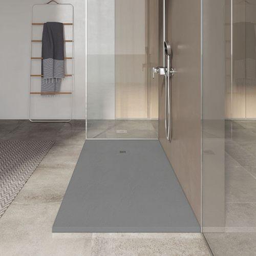 Poalgi 1100 x 800mm Slate Wetroom Tray & Waste - Cemento - 8028