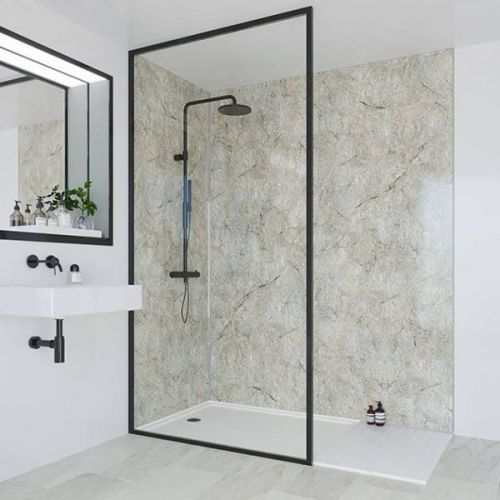 Multipanel Classic Collection Antique Marble 598mm Shower Panel (9606)