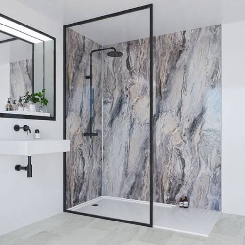 Multipanel Classic Collection Cappuccino Stone 1200mm Shower Panel (9491)