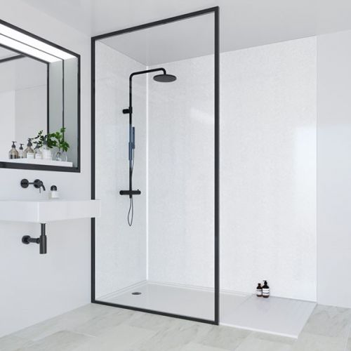 Multipanel Classic Collection Frost White 1200mm Shower Panel (9562)