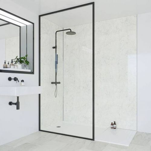 Multipanel Classic Collection Grey Marble 1200mm Shower Panel (9567)