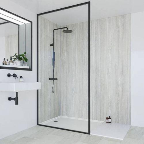 Multipanel Classic Collection Jupiter Silver 598mm Premier Shower Panel (13497)