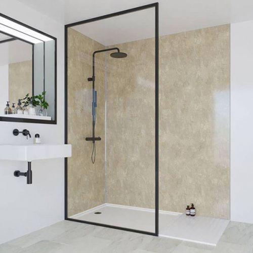 Multipanel Classic Collection Travertine 1200mm Shower Panel (9623)