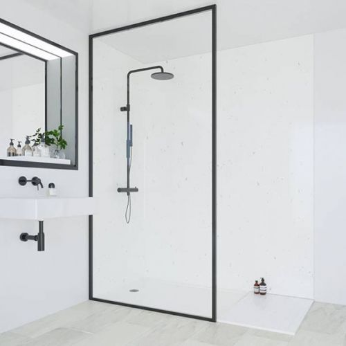 Multipanel Classic Collection White Snow 598mm Premier Shower Panel (13492)