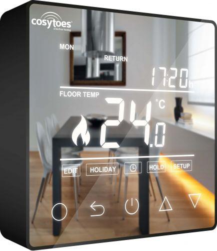 Cosytoes Mirage Timerstat for Electrical Underfloor Heating - Black - 14293
