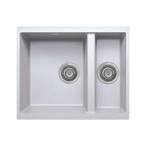 Prima+ Granite 1.5 Bowl Undermount Sink - Matt White Finish (13230)