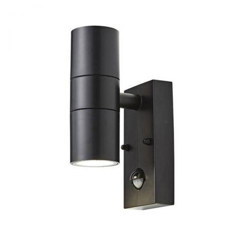 Forum Coast CZ-31744-BLK Neso Up/Down LED Wall Light with PIR Sensor - Black (18343)