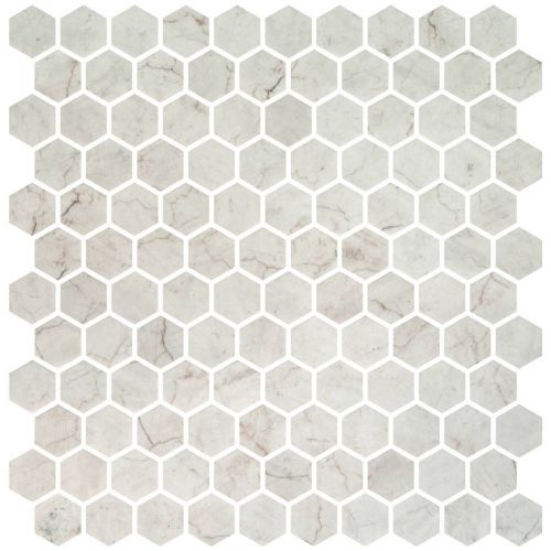 Hex Ivory Honed Non Slip 30.1 x 29.0cm Mosaic Sheet (20446)