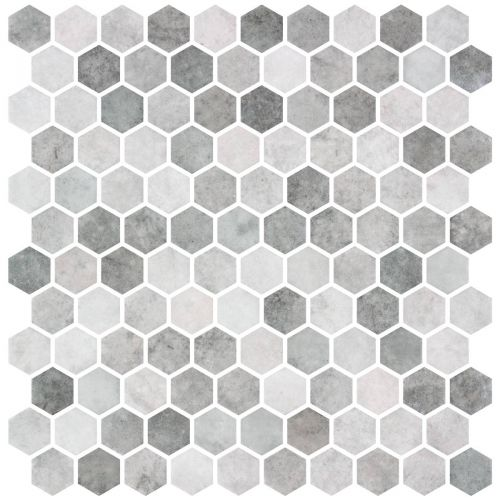 Hex Zement Grey Non Slip 30.1 x 29.0cm Mosaic Sheet (20449)