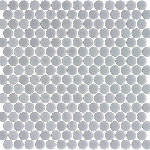 Penny Smooth Grey Matte Shiny 28.6 x 28.6cm Mosaic Sheet (20435)