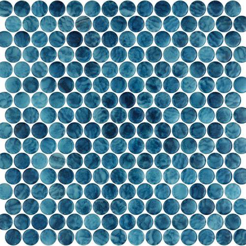 Penny Arrecife Blue 28.6 x 28.6cm Mosaic Sheet (20444)
