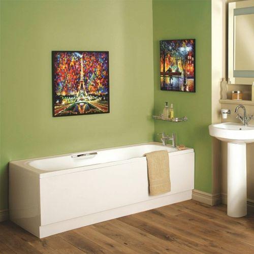 Moods Bathrooms to Love Granada II 1500 x 700mm Single Ended Bath with Anti Slip Twin Grip  (11313)