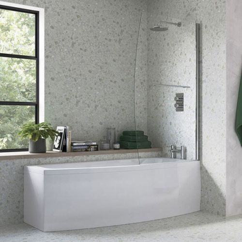Moods Bathrooms to Love Space Saver Shower Bath inc. Screen  - Left Hand (7581)