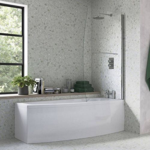 Moods Bathrooms to Love Space Saver Shower Bath inc. Screen  - Right Hand (7580)