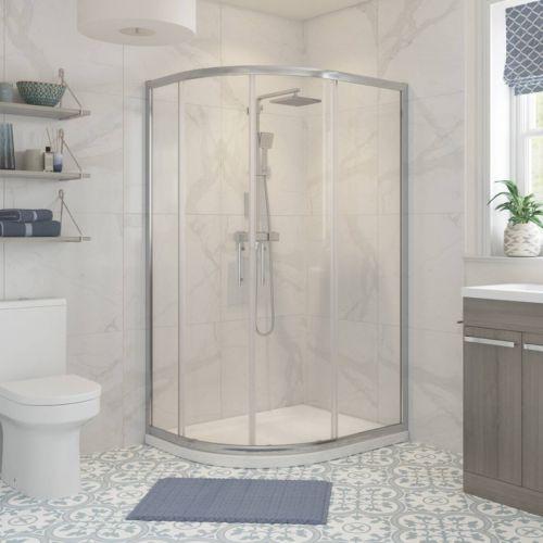 Moods Bathrooms to Love Reflexion Classix Framed 1200 x 900mm Offset Quadrant Shower Enclosure (20341)