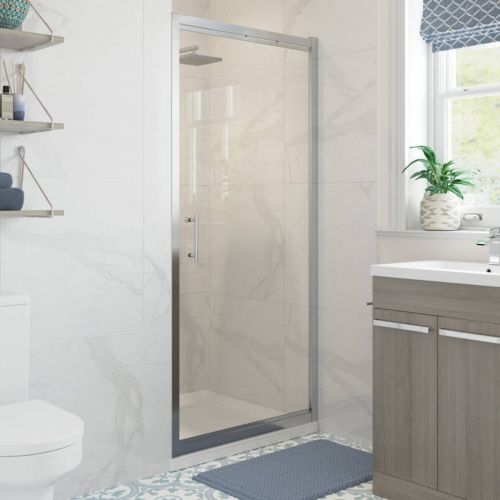 Moods Bathrooms to Love Reflexion Classix Framed 760mm Pivot Shower Door (20351)