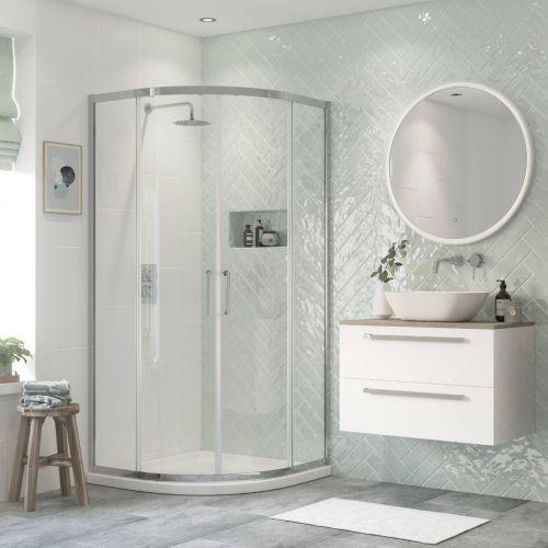 Moods Bathrooms to Love Flex Framed 900mm Quadrant Shower Enclosure (20386)