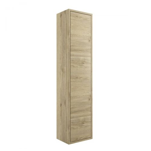 Moods Bathrooms To Love Perla 300mm 1 Door Wall Mounted Tall Unit - Havana Oak (20401)
