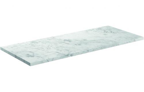 Moods Bathrooms to Love Manhattan 1220mm Laminate Worktop - Carrara Marble (19592)