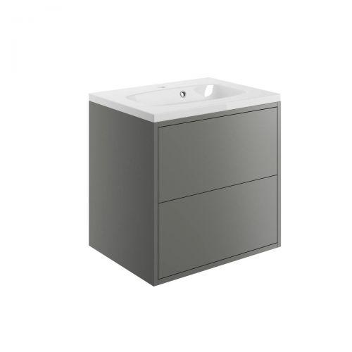 Moods Bathrooms To Love Perla 600mm Wall Hung Vanity Unit & Basin - Matt Grey (20500)