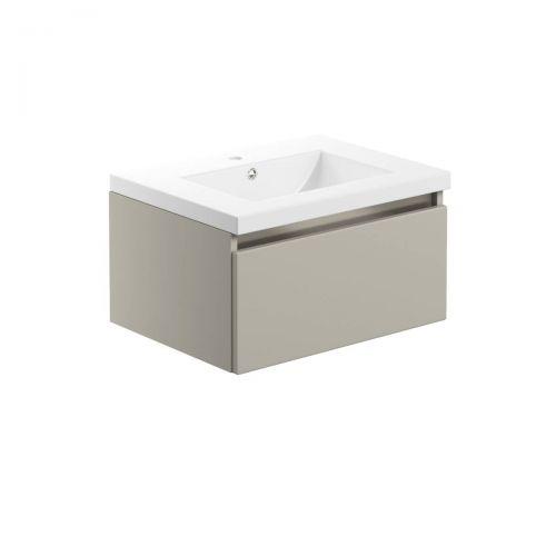 Moods Bathrooms To Love Carino 615mm Wall Hung Vanity Unit & Basin - Latte (20514)