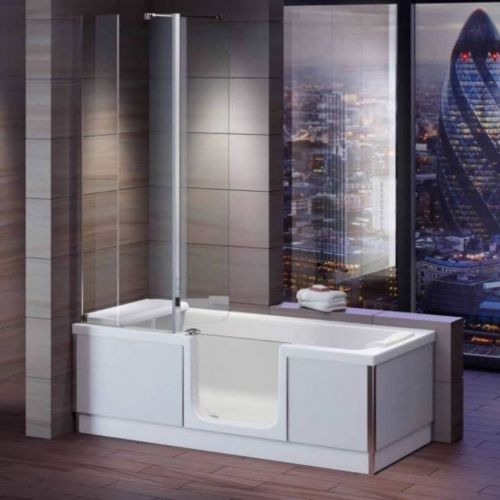 Bathe Easy Style Easy Access 1700mm Shower Bath, Screen & Panels  - Right Hand (14957)