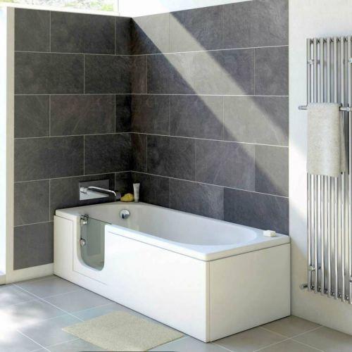 Bathe Easy Cascade 1700mm Easy Access Straight Bath & Panels  - Left Hand (14958)