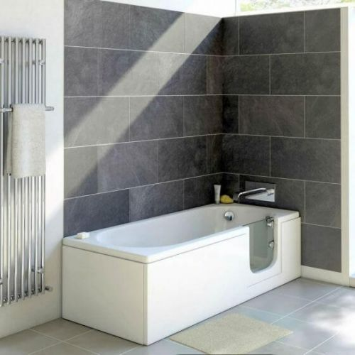 Bathe Easy Cascade 1700mm Easy Access Straight Bath & Panels  - Right Hand (14959)