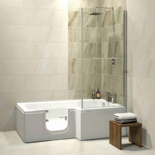 Bathe Easy Solarna Easy Access 1700mm L-Shape Bath, Screen & Panels - Left Hand (14952)