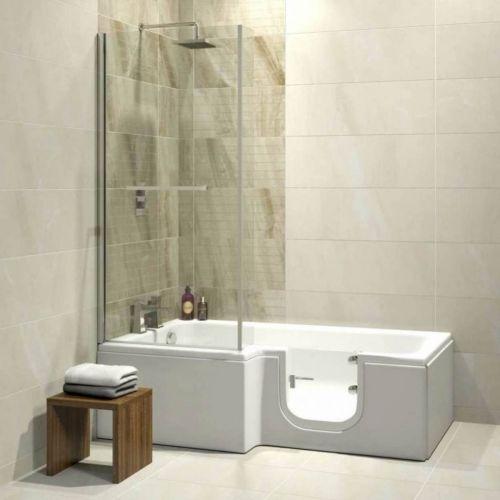 Bathe Easy Solarna Easy Access 1700mm L-Shape Bath, Screen & Panels - Right Hand (14953)