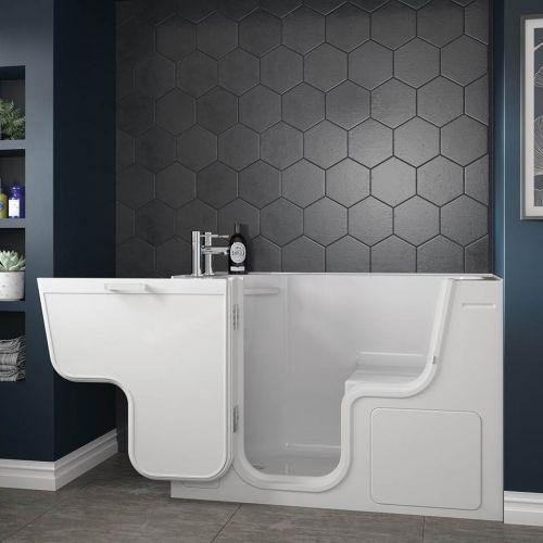 Bathe Easy Serenity 1300 x 660mm Easy Access Deep Bath & Panels  - Left Hand (14969)