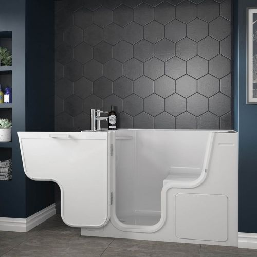 Bathe Easy Serenity 1300 x 750mm Easy Access Deep Bath & Panels  - Left Hand (14968)