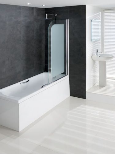 Volente Frosted 8mm Hinged Bath Screen (12622)