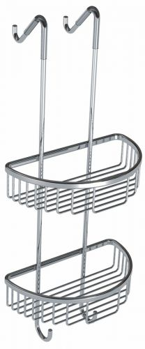 Eliseo Ricci Double D-Shape Wire Shower Tidy - Chrome - 14148