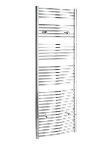 ER25 Curved 1800 x 600mm Heated Towel Rail - Chrome (12265)