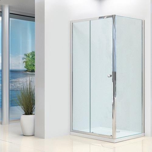 Essentials 1200mm x 800mm Sliding Shower Door & Side Panel Pack (19178)