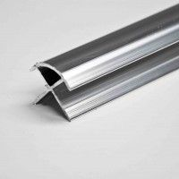 Wide Panel PVC External 10mm Silver Trim - 10753