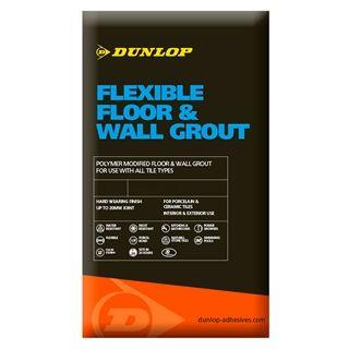 Dunlop Flexible Floor & Wall Grout Grey 10KG - 12791