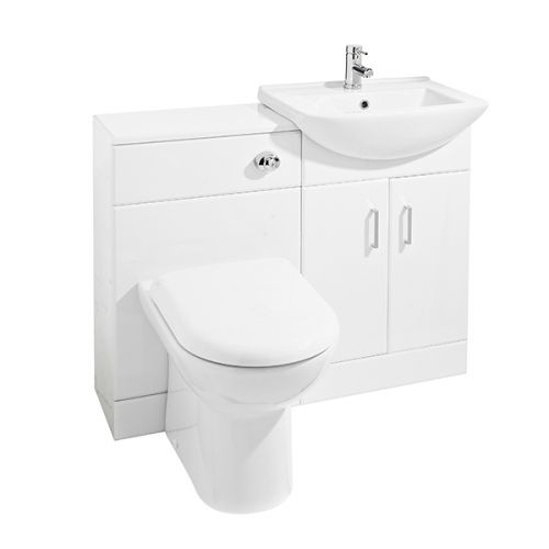 Nuie Saturn Floorstanding Furniture Pack with Square Basin - Gloss White (19107)