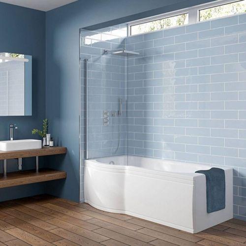 Viktor Benson 1500 x 750mm Shower Bath, Panel & Screen  - Left Hand (8254)