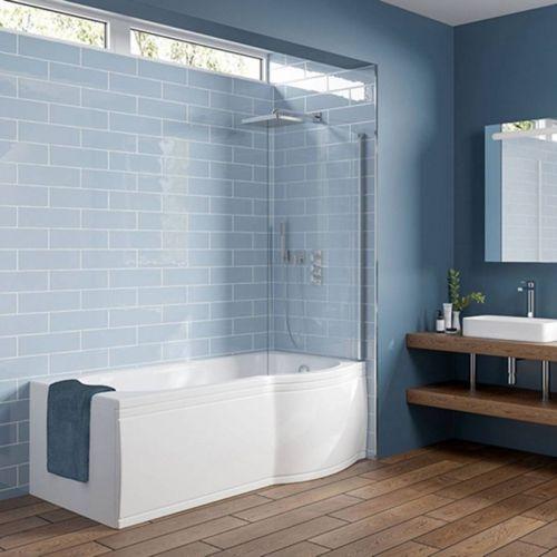 Viktor Benson 1500 x 750mm Shower Bath, Panel & Screen  - Right Hand (8253)