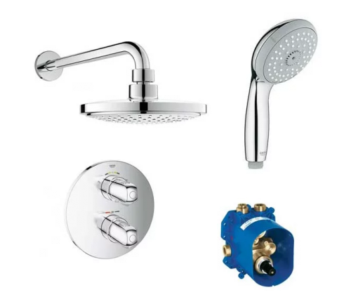 Grohe G1000 Concealed Thermostatic Shower Set (10839)