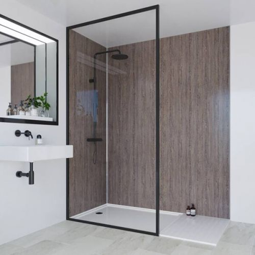 Multipanel Heritage Collection Logan Oak 1200mm Shower Panel (13576)