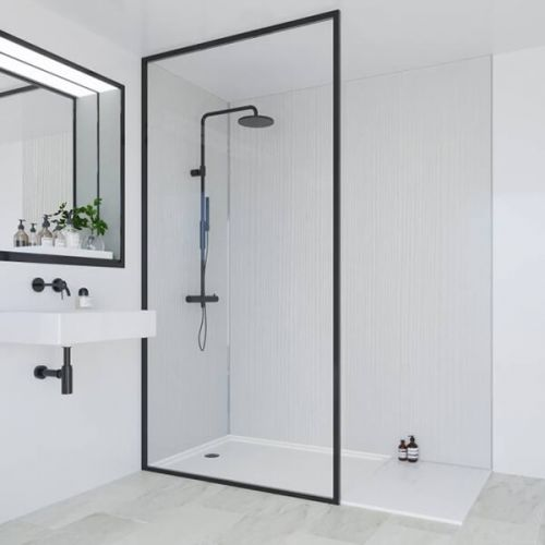 Multipanel Heritage Collection Marlow Linewood 1200mm Shower Panel (13535)